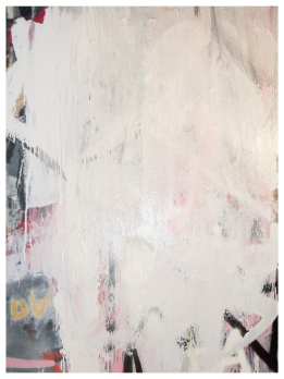 (Untitled), Oil, oil-based household paint, oil stick, acrylic & spray paint on cotton 123 x 92 cm's approx, EC 2012