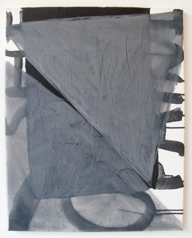 Untitled (Toward Splitting), Acrylic & ink on canvas, 52 x 41 cm, By EC 2013
