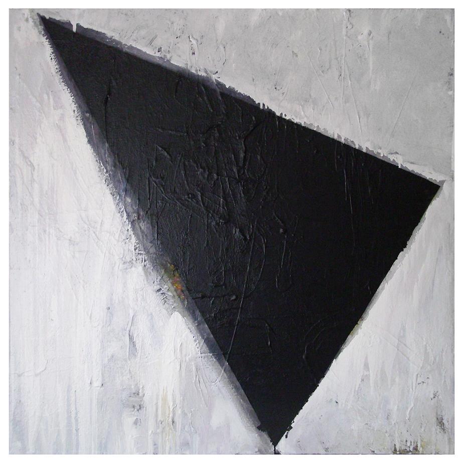UNTITLED, Oil, Oil-based household paint, Spray paint on Canvas, 100 x 100 cm's, EC 2013