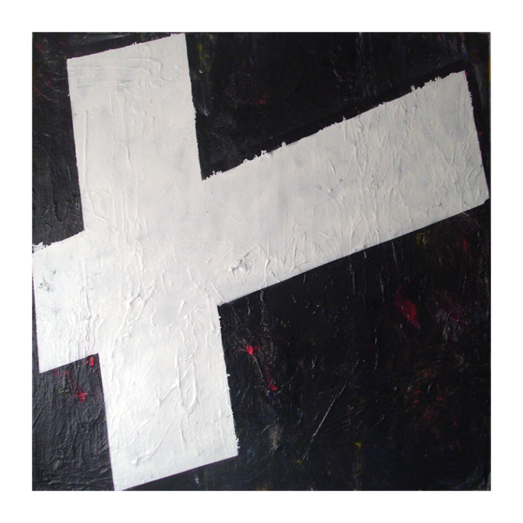 Untitled, Oil, Oil-based household paint, Acrylic & Spray paint on canvas, 100 x 100 cm's, EC 2013