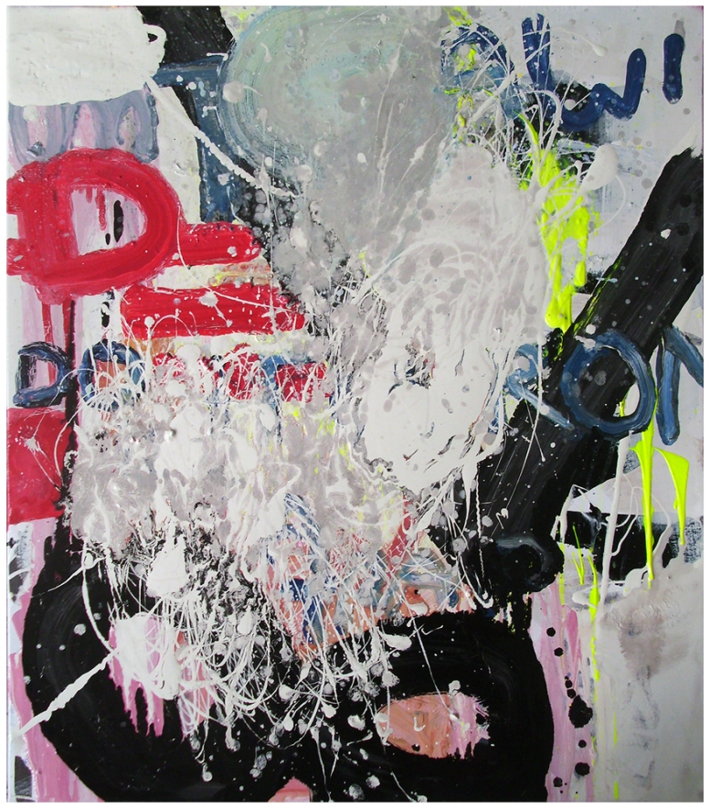 Untitled, Oil, Oil-based household paint, Acrylic, Permanent marker on canvas, 69.5 x 61 cm, EC 2013