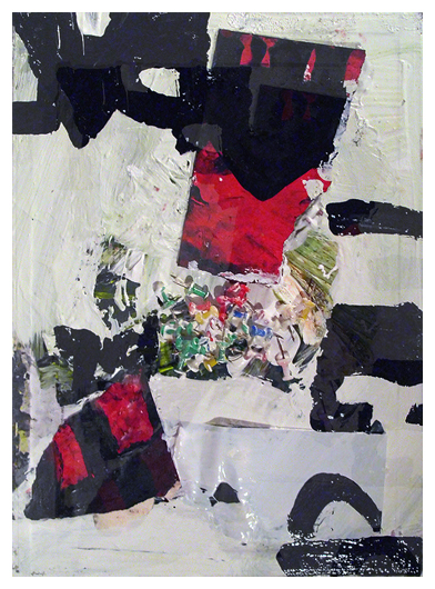 Untitled, Acrylic, Oil, Oil stick, Collage, Pins, PVA on canvas on board, EC 2013
