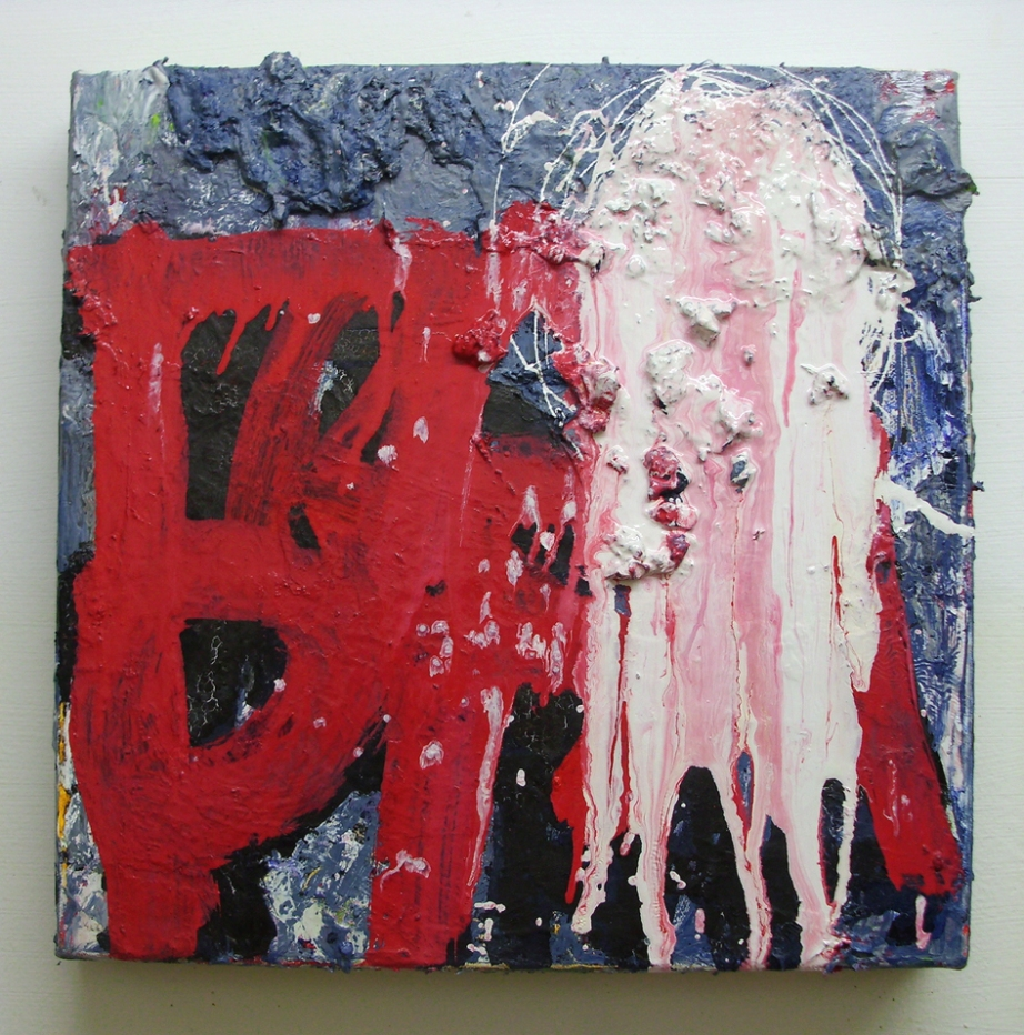Untitled (TRAP), Oil, Household paint, Acrylic & Ink on canvas, 20 x 20 cm approx, EC 2013