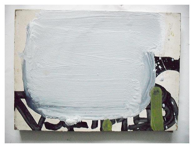 Untitled (STUNT), Permanent marker, Acrylic & Oil on reclaimed board, EC 2013