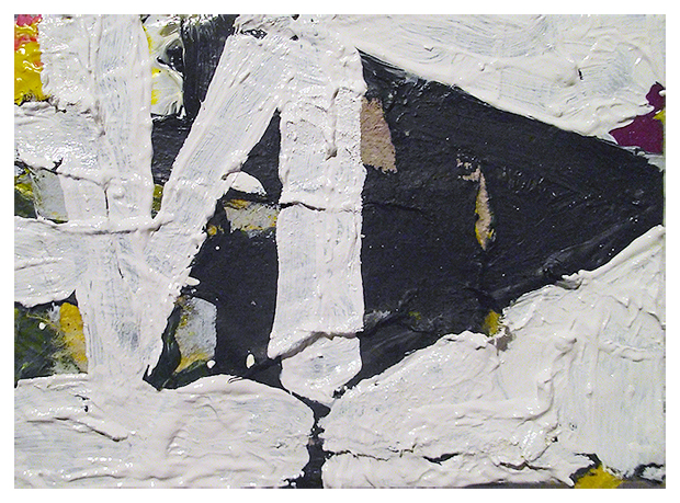 Untitled, Oil, Acrylic, Ink, Mixed papers on canvas, 9 x15 cm approx, EC 2013 – Destroyed