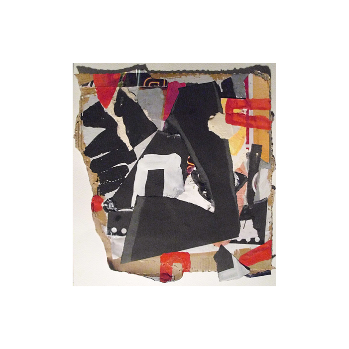 Untitled (Container), Collage & Gouache on Cardboard, EC 2014