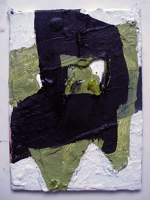 Untitled, Oil & Acrylic on Canvas on Board, 18 x 13 cm approx, EC 2014
