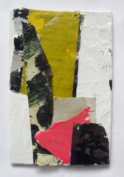 Untitled, Mixed media and Collage on Canvas on Board, 15 x 10 cm, By EC 2014