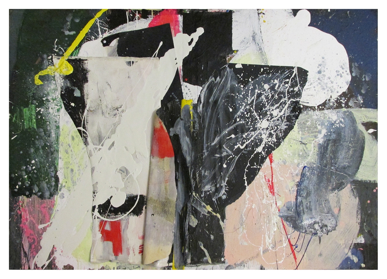 Defeating Silence, Mixed Media on Canvas (2panels), 102 x 144 cm, by EC 2014