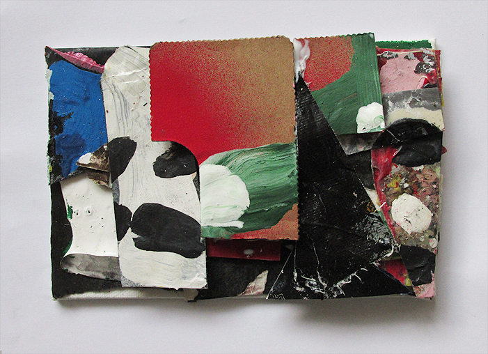 Its Own Impossibility, Gouache, Acrylic, Oil, Collage on Canvas on Board, 15 x 10 cm approx, by EC 2014