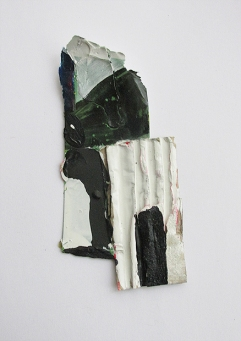 Erupt and Sever, Oil, Oil-based household paint & card, By EC 2015