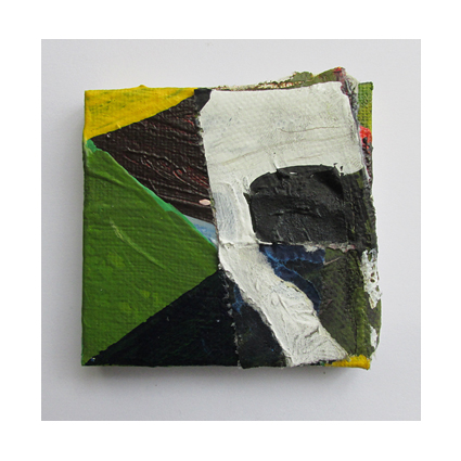 Seguito, Oil, oil-based household paint and acrylic on canvas, 5 x 5 cm approx, By EC 2015