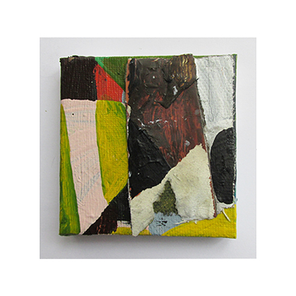 Apart From All This, Oil, oil-based household paint and acrylic on canvas, 5 x 5 cm approx, By EC 2015