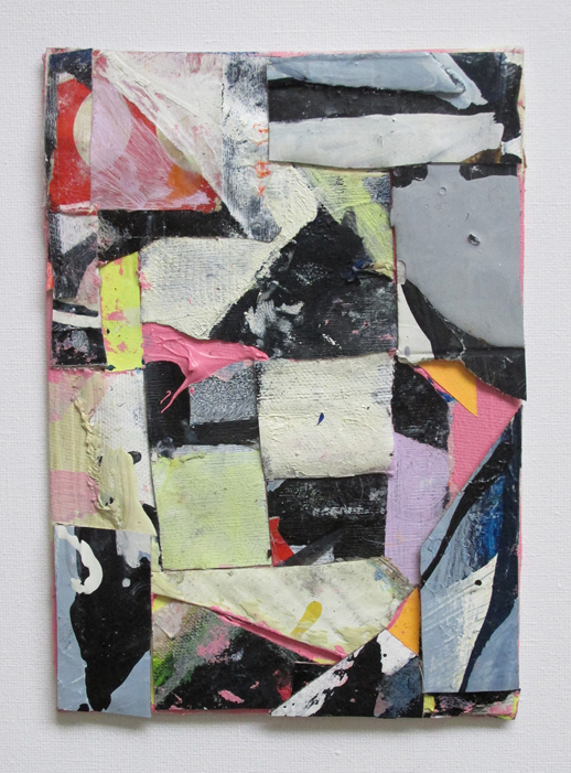 Bertie Bassett's Breakdown, Acrylic on board and oil on canvas and paper mounted on board, 17 X 14 cm approx, By EC 2017