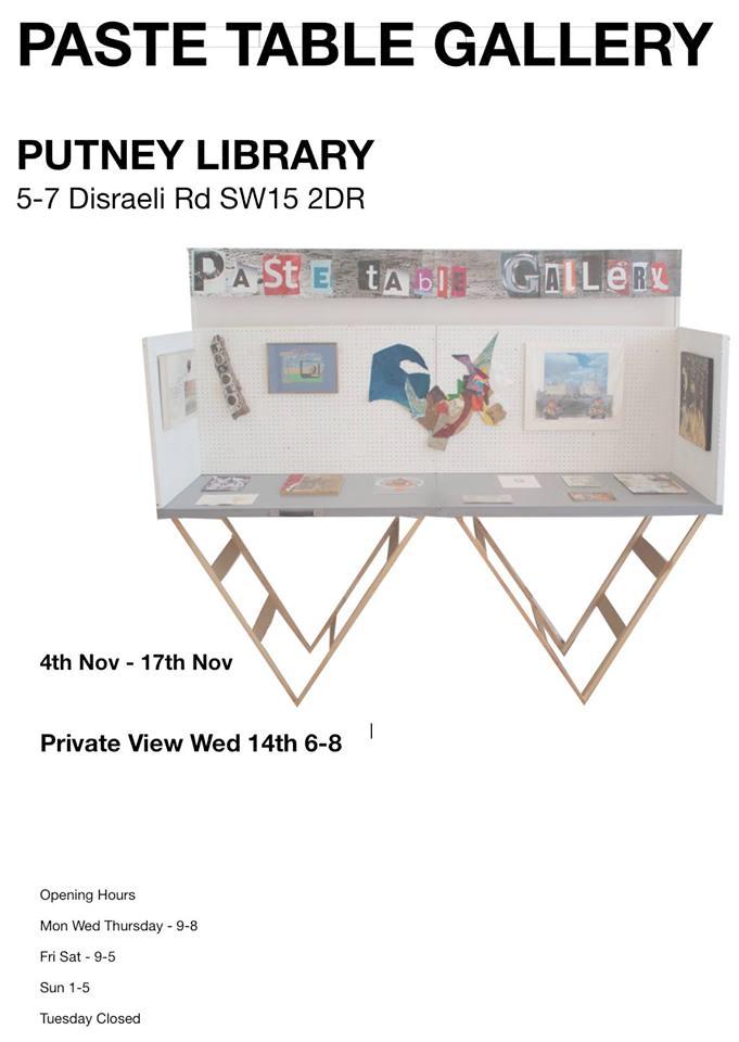 PATE TABLE NOV 2018 PUTNEY LIBRARY